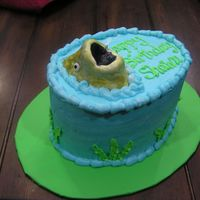 Fish Cake this was a cake i did for a friend last minute. it turned out okay. thefish is made out of rkt and covered in fondant. i'm a critique...