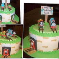 Thomas The Train i did this cake for a three year old boy who loves thomas and percy. thank you to the wonderful designs on cc (sorry i don't know the...