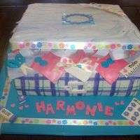 Scrapbook Box Cake my daughter's friend is having her birthday at a scrapbooking cake. she wanted her cake to be a box full of scrapbooking supplies. it...