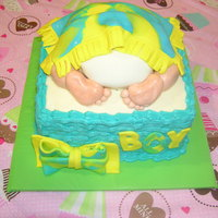 Baby Bum Under A Blanket enjoyed making this cake for a friend's baby shower.