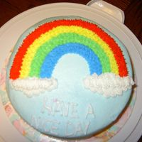 Wilton I Rainbow Cake per the book