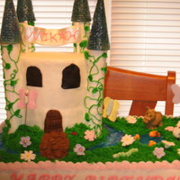 Castle Cake This is the actual cake for the little girls 3rd birthday. She loved the cake.