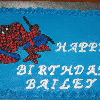 Spiderman Cake This is a Spiderman cake for my nephews birthday.