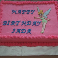 Tinkerbell Tinkerbell cake for a little girls 5th birthday