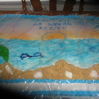 Hawaii Anniversary Cake Customer wanted cake to represent where they honeymooned, Hawaii.