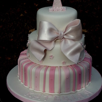 Christening Cake  there isn't a gallery for christening/baptism cakes so I put it here because it would be a nice shower cake too without the cross.I...