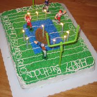 Football Cake I made this cake for my son's 10th birthday. He was in his first year of football at the time. It didn't turn out as well as I...