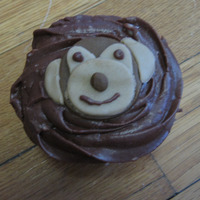 Monkey Cupcakes chocolate cupcakes with hershey chocolate buttercream. Monkeys are made of fondant. I did not love the way the ears turned out but they...