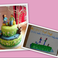 Cake Made After Her Drawing