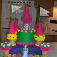 Princess Castle Cake My first castle!!! I made it for my little girls Birthday. She is 7 and she had the Best birthday ever.