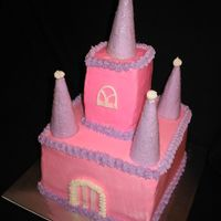 Castle Cake 2 layer 8x8 chocolate cake.
