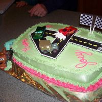 Cars Themed Cake I searched through this site for a 4 year olds birthday cake with the CARS theme. This is what I came up with. Thank you for all of your...