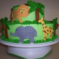 Jodie's Baby Shower fondant animals and trees