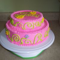 Leelee's Birthday Hot pink and lime green.