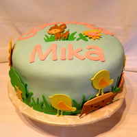 Cricut Nature Cake My first Cricut cake! Animals are gumpaste. Covered in MMF