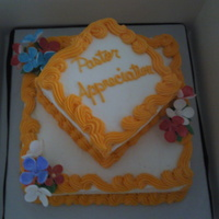 Cake For My Pastor A cake I made fo my Pastors' Appreciation Day.......