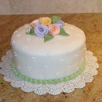 My First Cake This is my first attempt at cake making/decorating. I haven't taken a class yet but my husband just bought me private lessons which I...