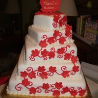 "Maple Leaf Cake For Canada Day Wedding. Cake for a wedding taking place on Canada Day, in Hamilton Ontario. Tiers are 2"" high, and measure 12"", 10"", 8"", 6""..."