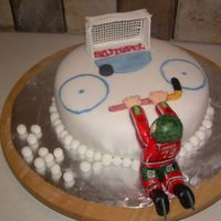 Out Of Reach Of The Finals This cake shows a hockeyplayer from the Swedish ProLeague Västra Frölunda. They have won the Title for several years but...