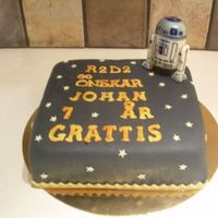 Star Wars R2D2 bids Johan 7 years happy birthday in swedish. I tried to reassemble the text in the beginning of all the Star Wars movies with the...