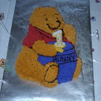 Winnie The Pooh Cake   for my oldest daughters first birthday