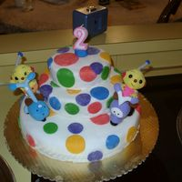 Rolie Polie Olie This was my very first fondannt cake about 5 years ago. I dug throough several albums to find this one.