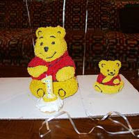 Baby Daughters 1St Birthday Cake 2004   Another Winnie the Pooh cake for my daughters first birthday.
