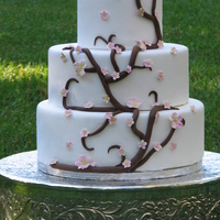Branch And Blossom Wedding Dummy cake made to try out my new blossom cutter and mold. Love them!
