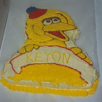Big Bird I made this cake for my nephew 3rd B-Day. We had a Sesame Street theme party I made all the cake, five total. Cake is Vanilla with...