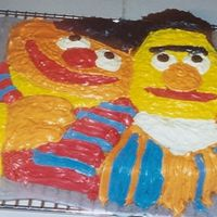 Ernie And Bert Made cake for nephew Sesame street theme party.