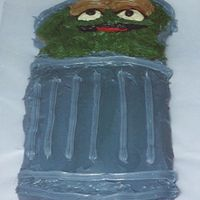 Oscar The Grouch Made cake for nephew Sesame street theme party