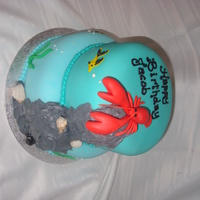 Sea Life I made this cake for a boy who was sharing his birthday with the anniversary of his grandfather's death, both an adult and child...