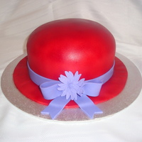 Red Hat Society I made this cake for a lady who's mother really wanted to be a part of the red hat society