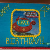 Little Einsteins Sheet Cake This is the second cake that I did for my daughter's fourth birthday party. I ordered an edible image and cut, with a very sharp razor...