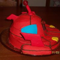 Little Einsteins Rocket Ship Cake Side View This is just the side view of my cake that I previously listed.
