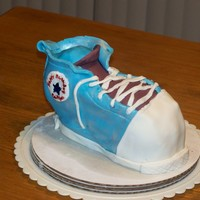 Converse Cake WASC with chocolate filling, vanilla buttercream and fondant