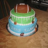 "Sports Themed Baby Shower This was for a ""post"" baby shower. The couple had a little boy and had a couples shower a month after his birth. They wanted a..."