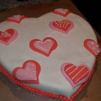 Valentine Fondant Cake This is my very first fondant cake!