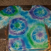 Tie Dye Birthday Cake I made this cake for my friend's daughter who was having a tie dye birthday party. They asked if I could make a tie dye shirt cake....