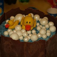Rubber Ducky Birthday Cake My duaghter chose a rubber ducky theme for her 12th birthday and I had fun matching the cake to the decor. The Ducks and bubbles are...