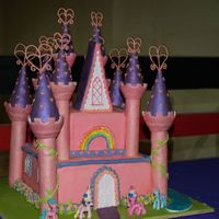 Castle Cake My daughter had a My Little Pony party, so I made her a Ponyland castle.