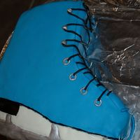 Ice Skate I made this cake for a friend of my daughter's, who had an ice skating birthday party. This was my first 3-D cake.
