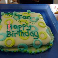 32Nd Birhday   Trendy circles cake,