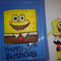 Sponge Bob Birthday Cake   I made this at 10:30 at night made with butttercream icing, took me about 2 hours, the birthday boy loved it