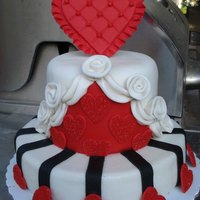 Valentine Cake - Queen Of Hearts Taken from the 2011 Wilton Yearbook - I've loved this cake from the first time I saw it in the yearbook. Changed the size of the...