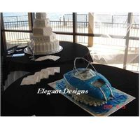 Wake Board Boat For A Grooms Cake This cake was carved for a lake front wedding where the bride and groom were going to leave the dock in their Wake Board Boat. The cake is...