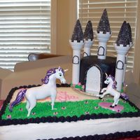 Unicorn Birthday This was for one of my friends little girl's 2nd birthday. It was designed to match the party invitation.