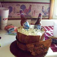 Beer Bottle Cake  I've been wanting to try the beer bottle cake for a while now. I made this for my brother in laws birthday. Then we took the extra...