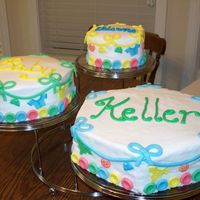 Baby Shower Buttercream with fondant accents