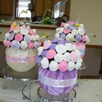Hunny Pots These were hunny pot cupcake bouquets for my sister's baby shower.